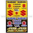 Planche Stickers A3 - SUZUKI