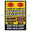 Planche Stickers A4 - SUZUKI