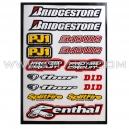 Planche Stickers A4 - BRIDGESTONE
