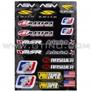 Planche Stickers A3 - Divers Sponsors