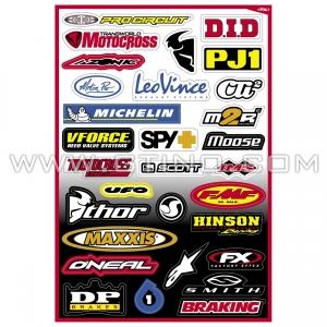 Planche Stickers - Sponsor B