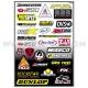 Planche Stickers - Sponsor D