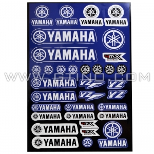 Planche Stickers A3 - YAMAHA