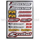 Planche Stickers A4 - BRIDGESTONE