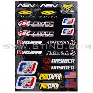 Planche Stickers A3 - Divers Sponsors