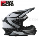 "Casque ""TRONIK"" Black/White - First Racing"