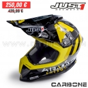 "Casque Cross J12 ""ARMA ENERGY"" CARBON - JUST1"