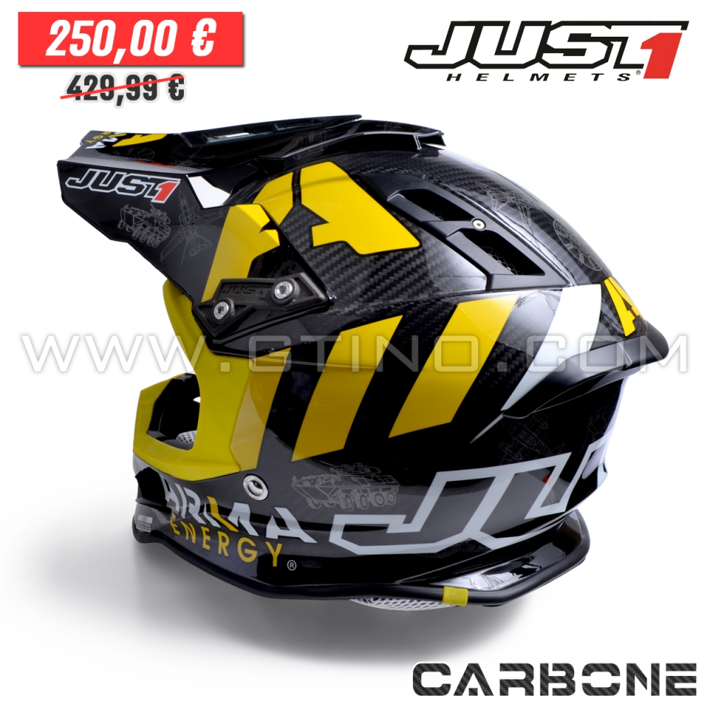 casque cross j12 arma energy carbon just1 gtino. Black Bedroom Furniture Sets. Home Design Ideas