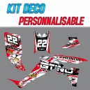"Kit déco ""RED PAINT"" - TRX 450"