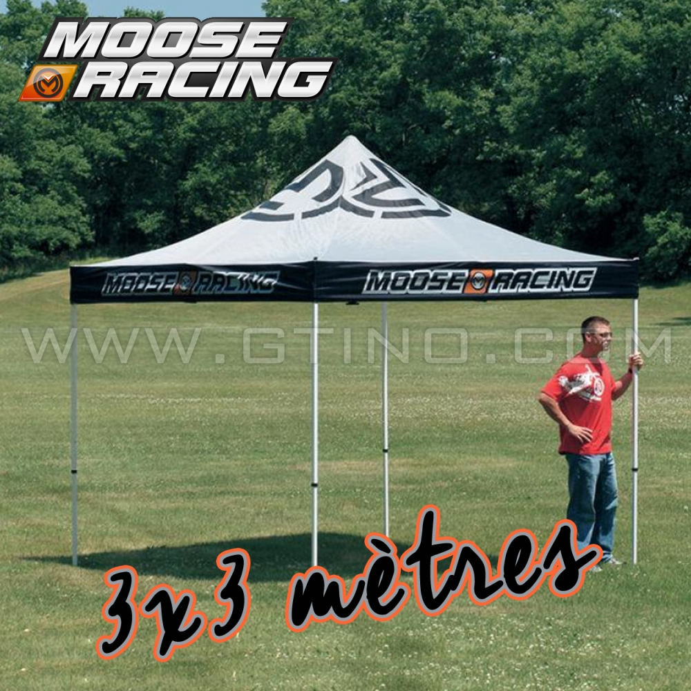 Tonnelle pliable 3x3 moose racing gtino for Stand pliable