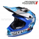 "Casque Cross J32 ""Moto X"" Blue - JUST1"