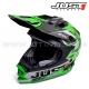 """Casque de Cross J32 """"Moto X"""" Vert - JUST1 Racing"""