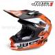 """Casque de Cross J32 """"Moto X"""" Orange - JUST1 Racing"""