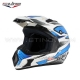 Casque de cross MX Blanc/Bleu by S-LINE