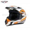 Casque de cross MX Blanc/Orange by S-LINE