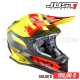 "Casque Cross J32 ""Pro Kick"" Black/Red/Yellow - JUST1"