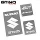 Pack de WARNING LABELS custom pour quad SUZUKI LTZ 400