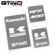 Pack de WARNING LABELS custom pour quad KAWASAKI KFX 400
