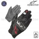 "Gants cuir ""SMX-1 AIR v2"" carbone - ALPINESTAR"