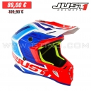 "Casque Cross J38 ""Blade"" Blue/Red/White - JUST1"